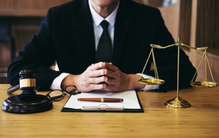 lawyer on a desk